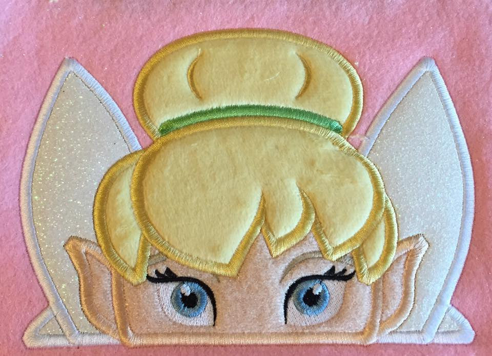 5X7 TINKERBELL HEAD FOR HOODED TOWEL