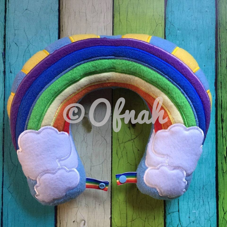 6X10 & 8X12 RAINBOW NECK PILLOW