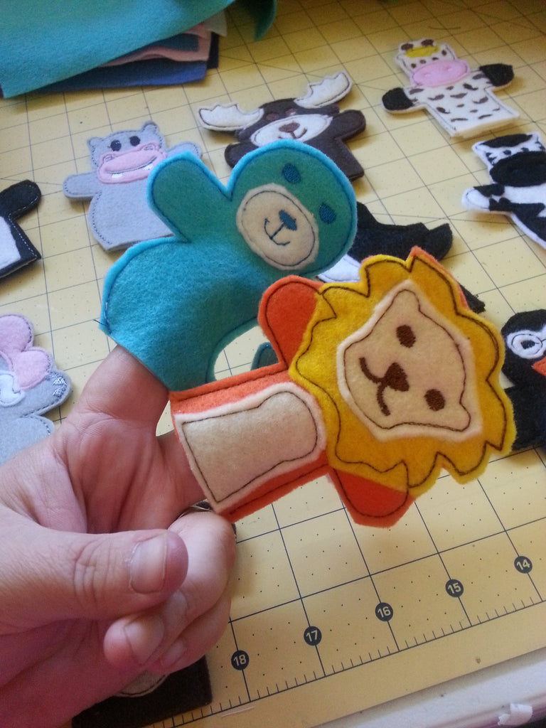 ANIMAL KINGDOM FINGER PUPPET PATTERN -  SET #1