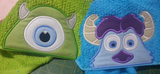 5x7 MIKE GREEN MONSTER INC HEAD FOR HOODED TOWEL