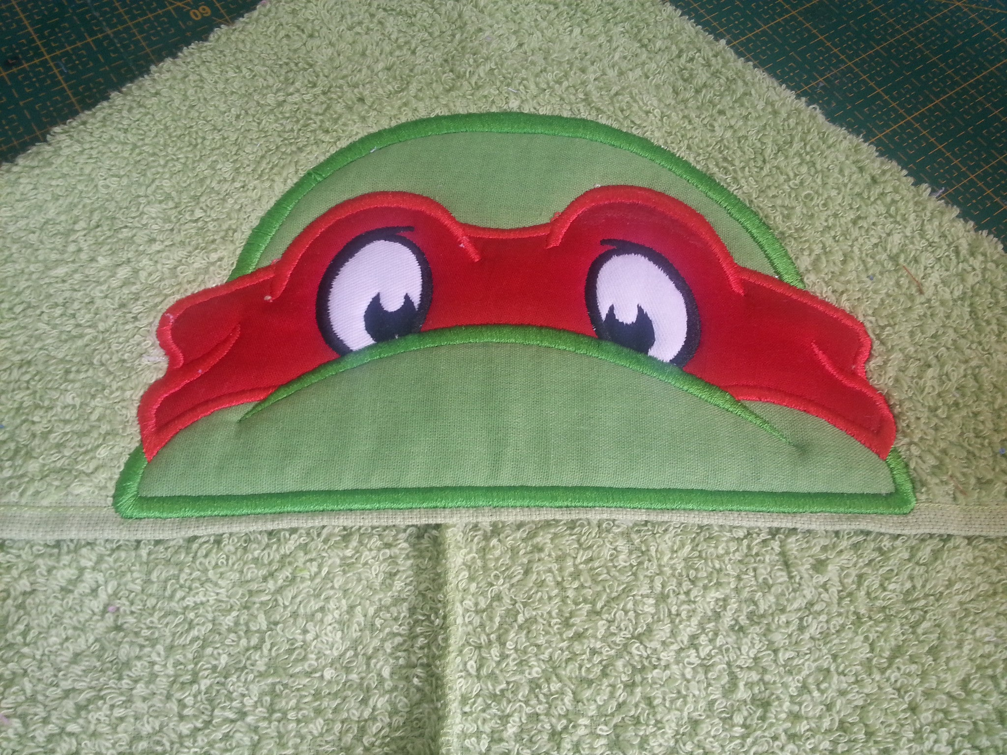 5x7 NINJA TURTLE HEAD FOR HOODED TOWEL