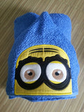 5x7 MINION HEAD FOR HOODED TOWEL