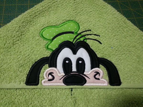 5x7 And 6x10 Goofy Head For Hooded Towel Ofnah