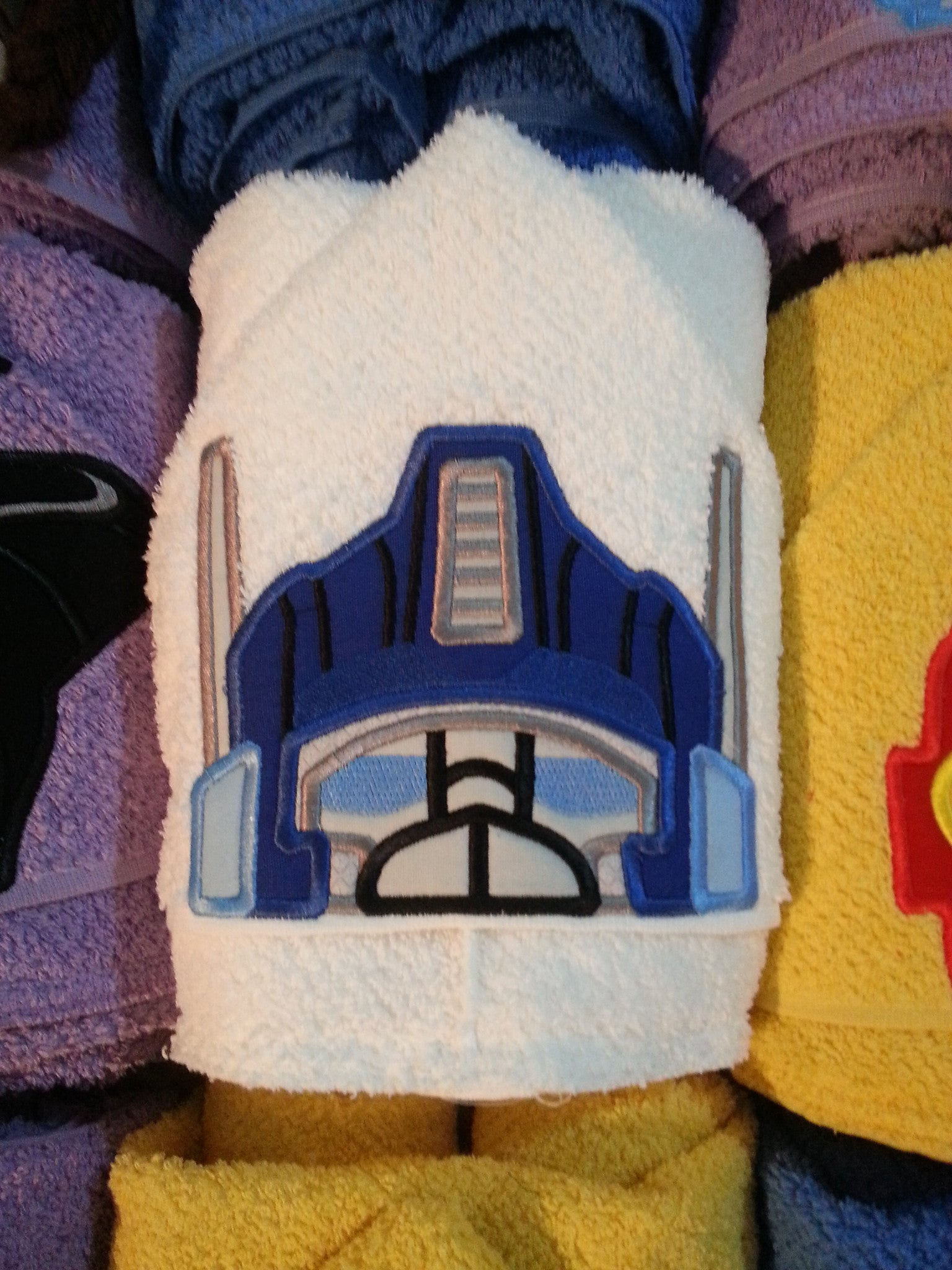 5x7 TRANSFORMER PRIME BLUE HEAD FOR HOODED TOWEL