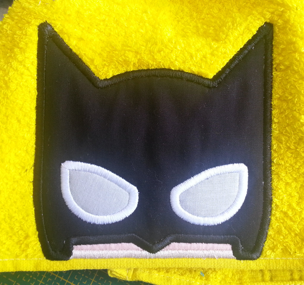5x7 BATMAN HERO HEAD FOR HOODED TOWEL