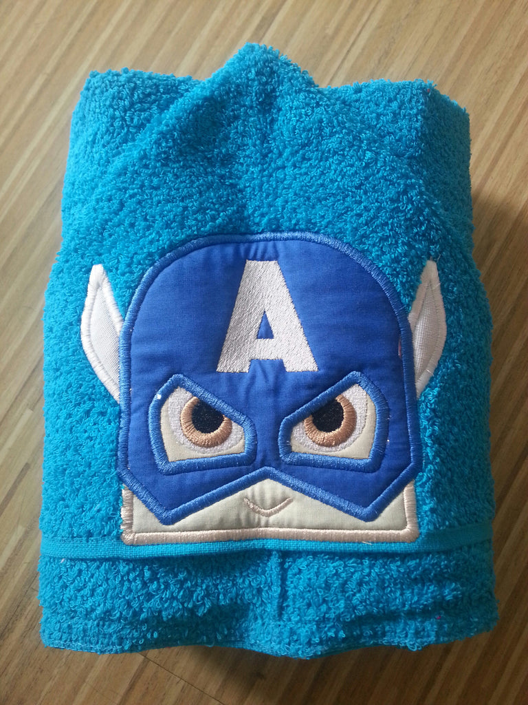 5x7 CAPTAIN AMERICA HEAD FOR HOODED TOWEL