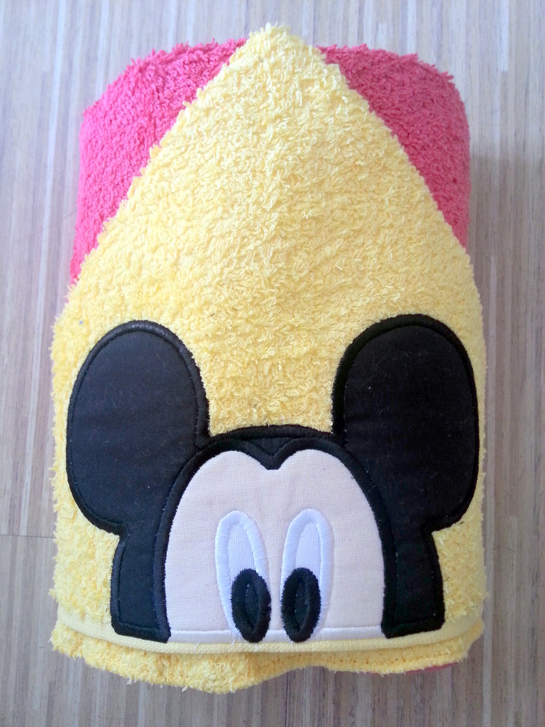 5X7 AND 6X10 MR MOUSE HEAD FOR HOODED TOWEL