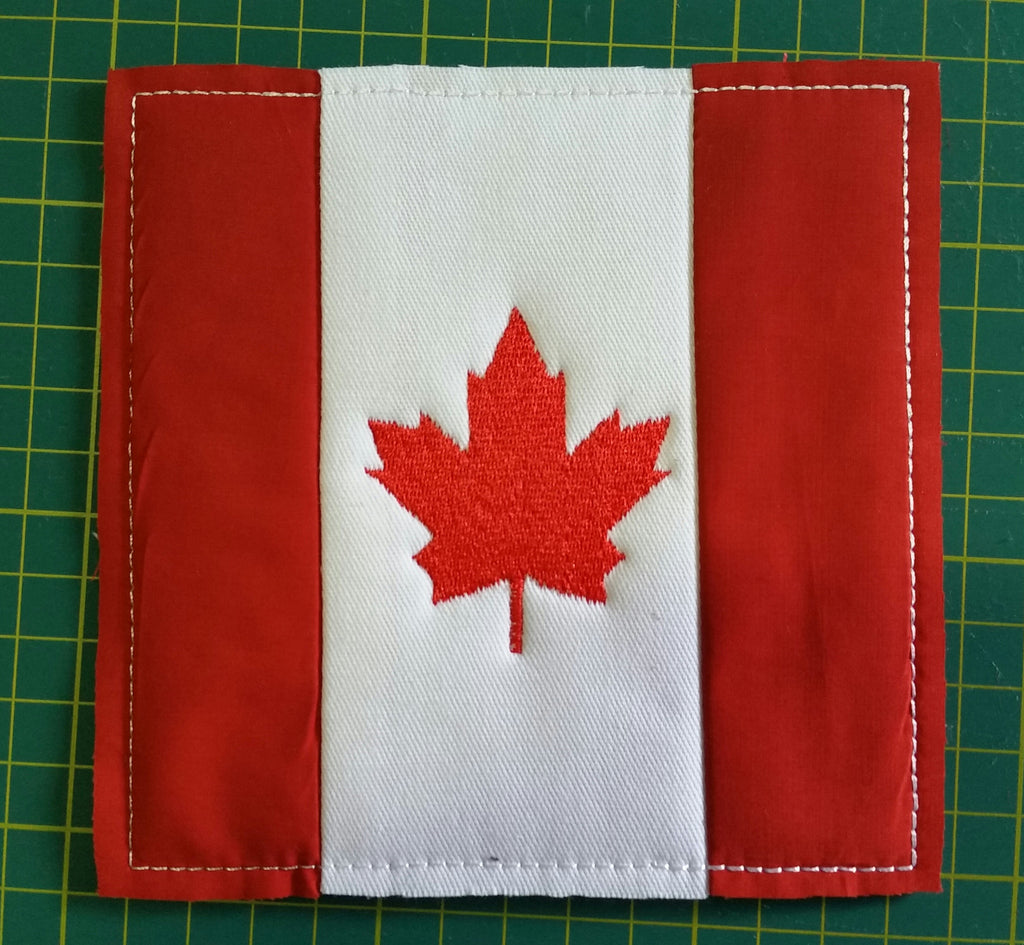 ITH QUILTING BLOCK # 24 CANADIAN FLAG