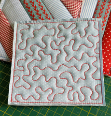 ITH FREE MOTION BLOCK and TOP QUILTING #21