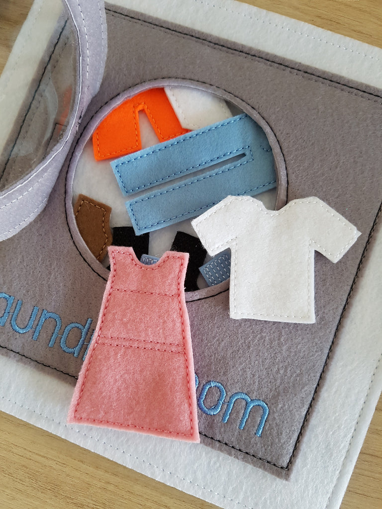 6x6 & 8X8 LAUNDRY MACHINE AND CLOTHES QUIET BOOK PAGE