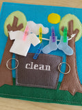 6x6 & 8X8 CLOTHES LINE AND CLOTHES QUIET BOOK PAGE