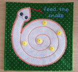 6X6 & 8X8 FEED THE SNAKE MAZE ITH QUIET BOOK PAGE