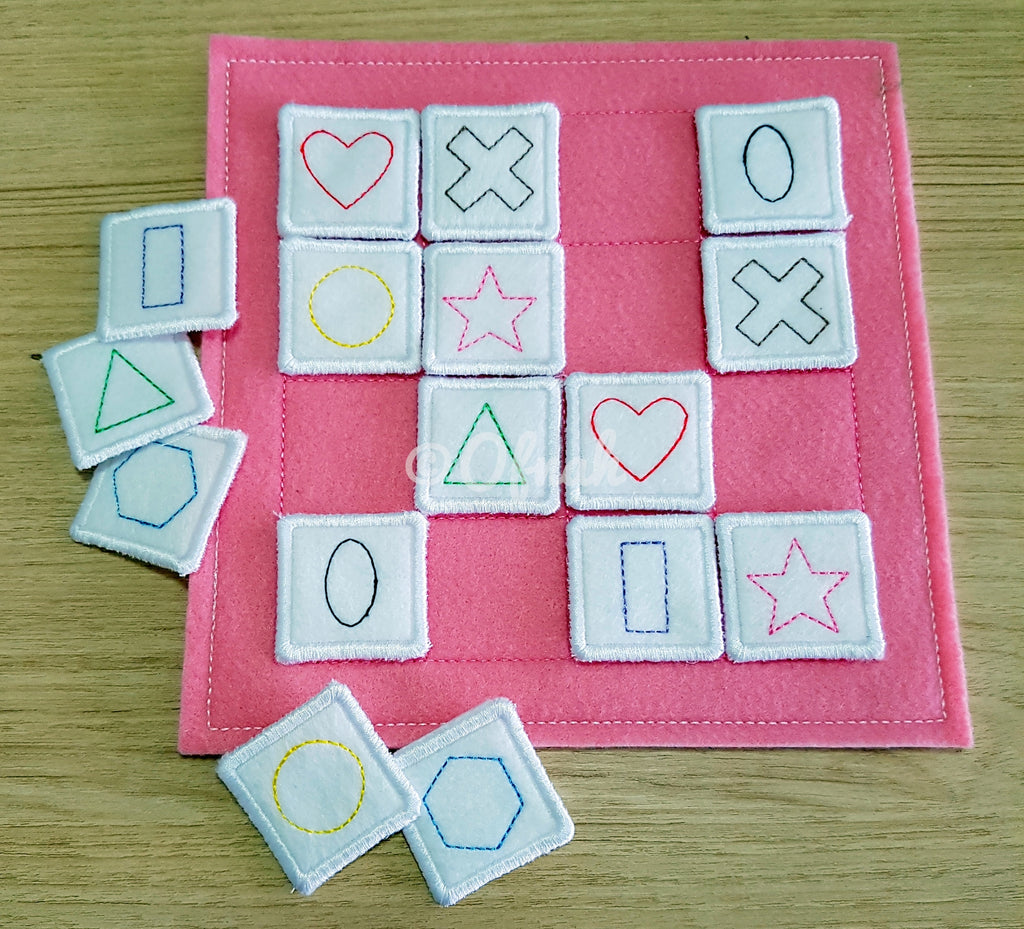 6X6 & 8X8 MATCHING GAME ITH QUIET BOOK PAGE