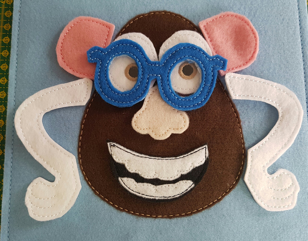 6X6 & 8X8 ITH POTATO HEAD QUIET BOOK PAGE