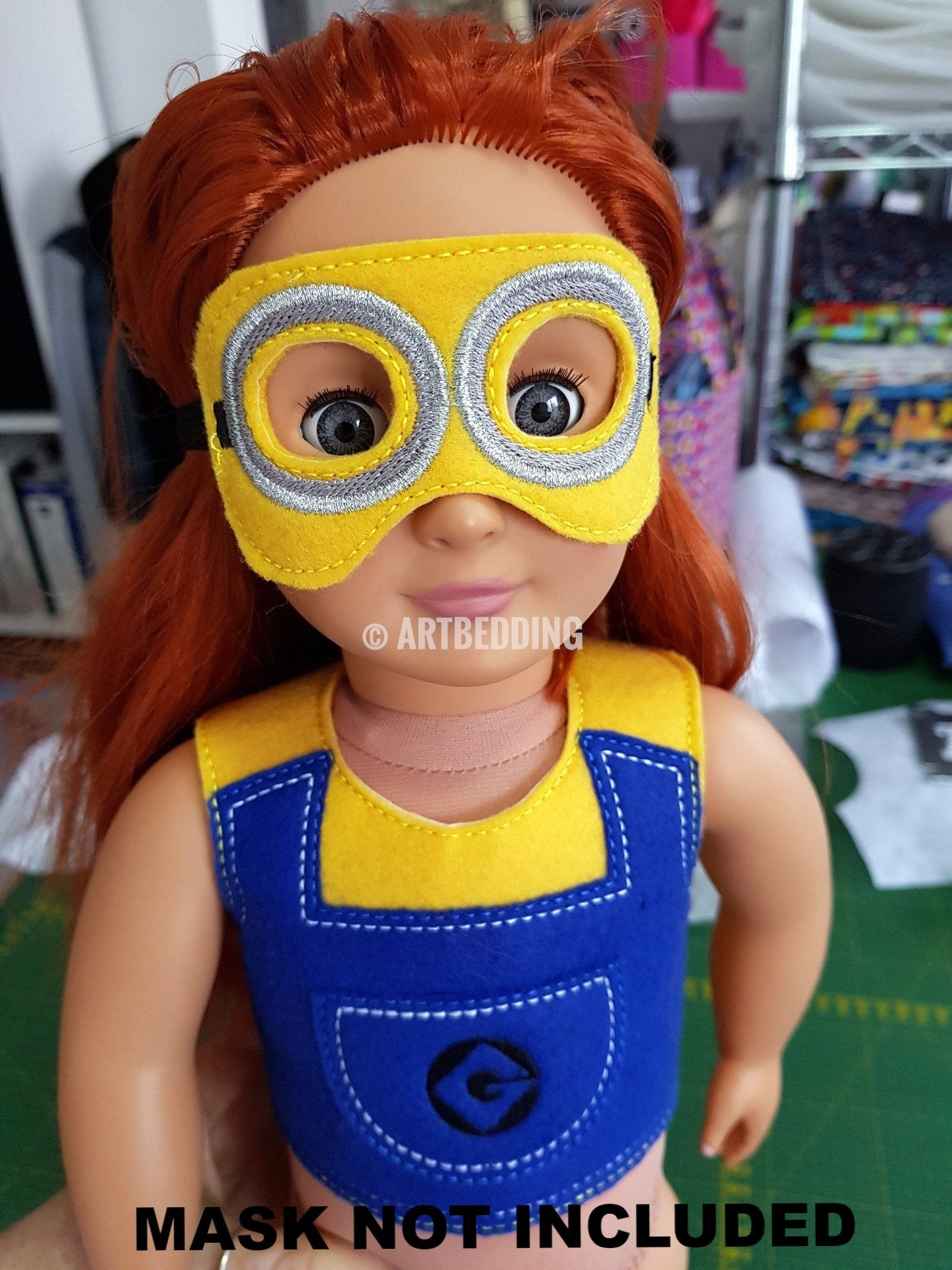 8X14 MINION INSPIRED SHIRT FOR 18 INCHES DOLL