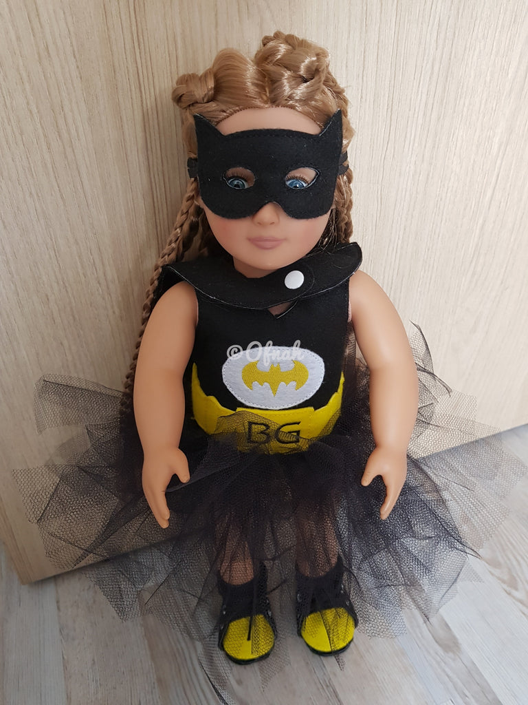 8X14 BATGIRL INSPIRED OUTFIT FOR 18 INCHES DOLL