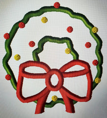 "WREATH ""O"" XMAS APPLIQUE DESIGN"