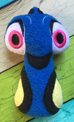 ABSENT BLUE FISH DORI RATTLE PATTERN