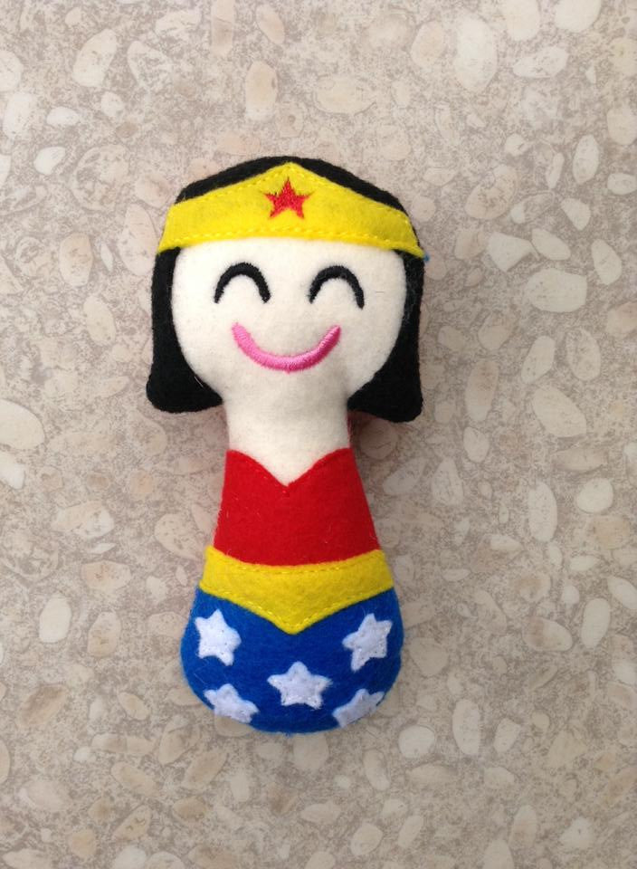 WONDER WOMAN RATTLE PATTERN