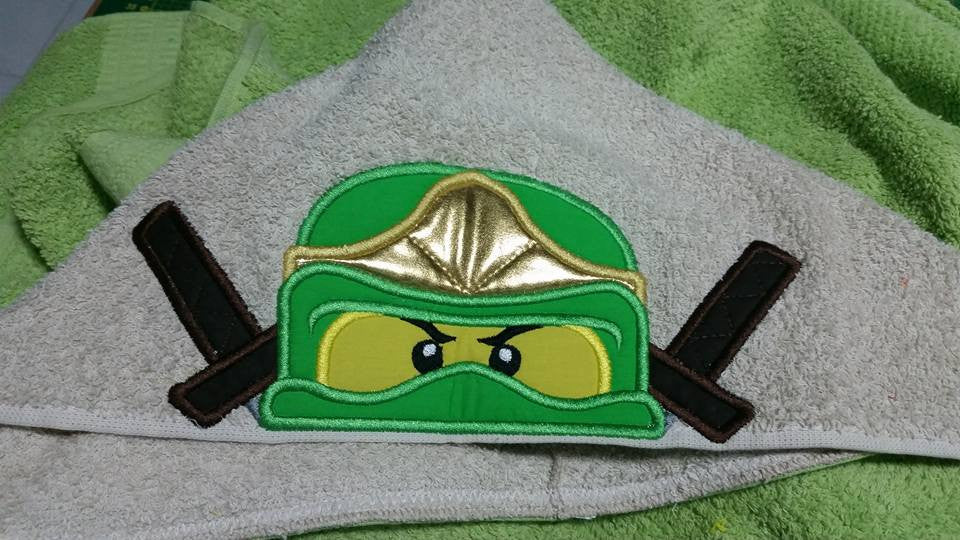 5X7 AND 6X10 NINJAGO HEAD FOR HOODED TOWEL