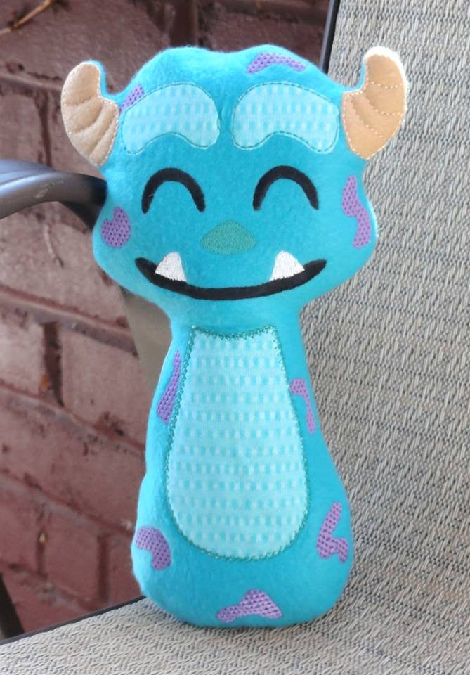 SULLY BLUE MONSTER RATTLE PATTERN