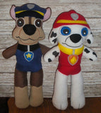 PAW PATROL DOLL PATTERN SET