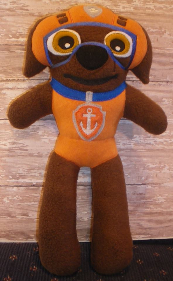 ZUMA ORANGE PAW PATROL DOLL PATTERN