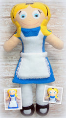 ALICE WONDERLAND DOLL PATTERN