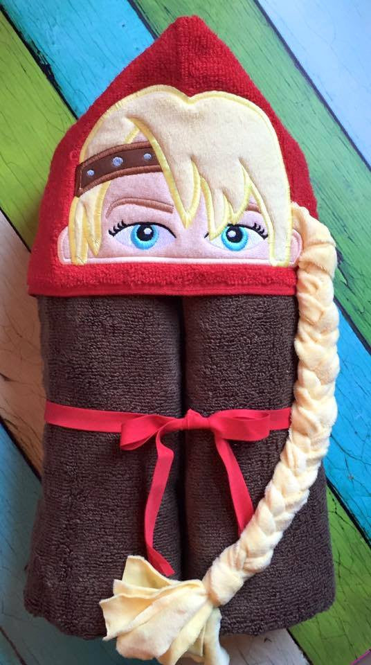5x7 ASTRID HEAD FOR HOODED TOWEL