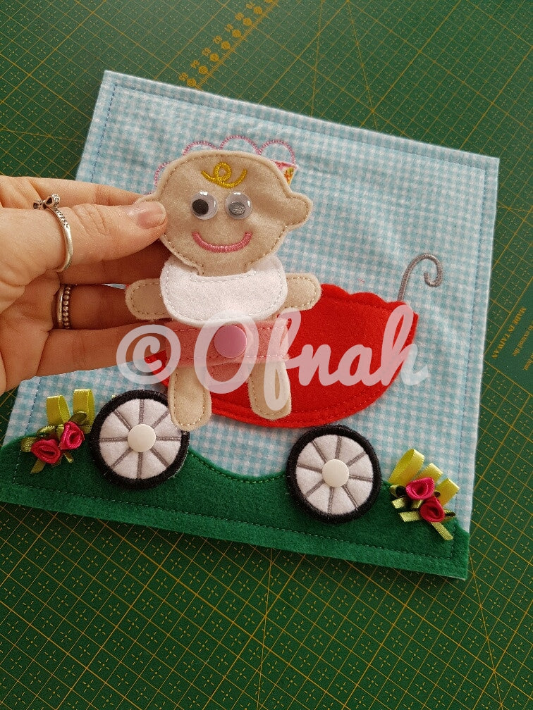 6X6 & 8X8 BABY STROLLER ITH QUIET BOOK PAGE