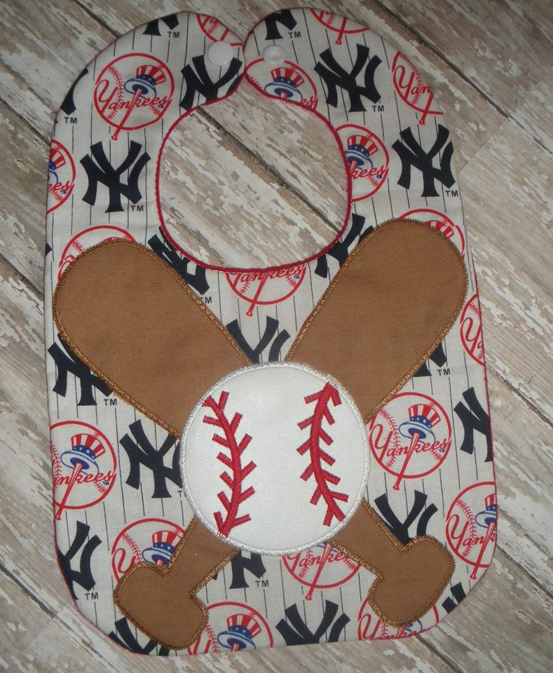 BASEBALL BATTS AND BALLS BIB