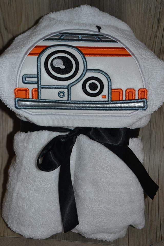5x7 BB8 STAR WARS NEW DROID HEAD FOR HOODED TOWEL