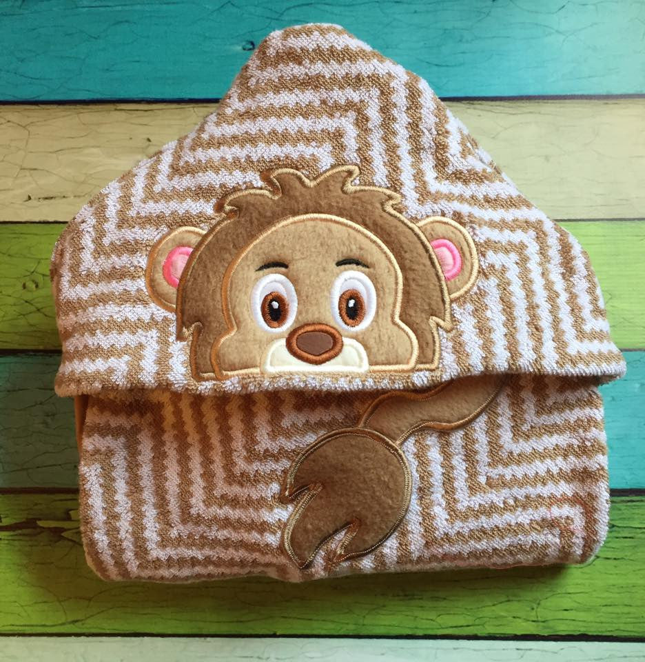 5X7 BABY LION HEAD FOR HOODED TOWEL