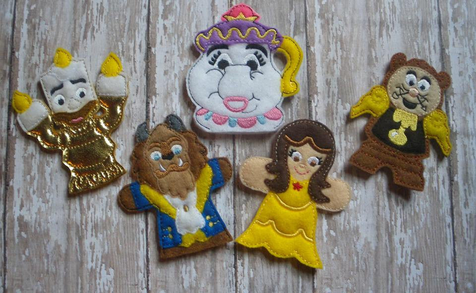 BEAUTY AND THE BEAST FINGER PUPPET SET PATTERNS