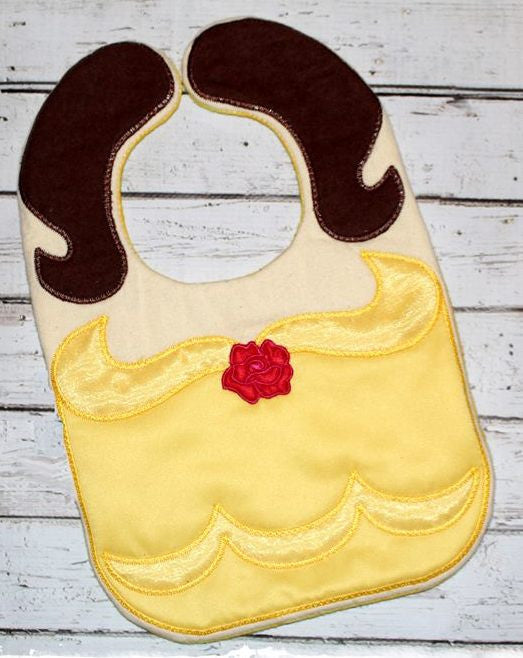 BELLE BEAUTY AND THE BEAST BIB