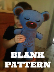 ITH BLANK TEDDY BEAR PATTERN