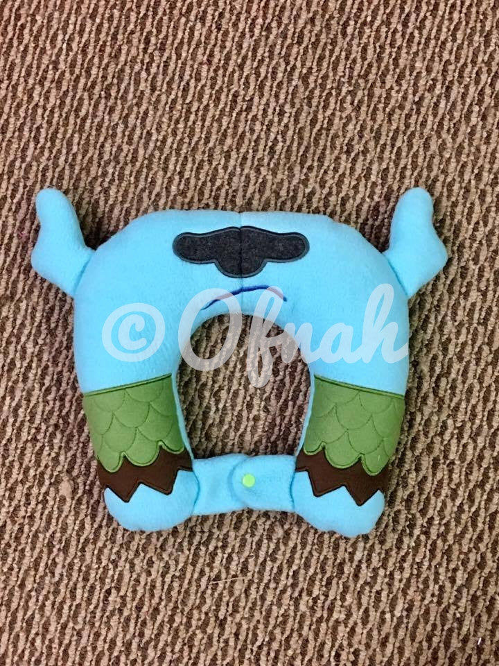 6X10 & 8X12 GRUMPY GRAY TROLL INSPIRED NECK PILLOW