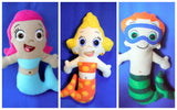 BUBBLE GUPPIES DOLLS PATTERN SET