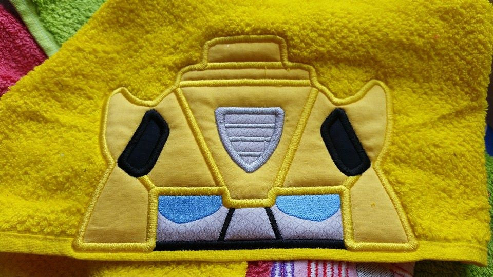 5x7 BUMBLE BEE YELLOW TRANSFORMER HEAD FOR HOODED TOWEL