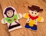 TOY STORY FINGER PUPPETS SET PATTERNS