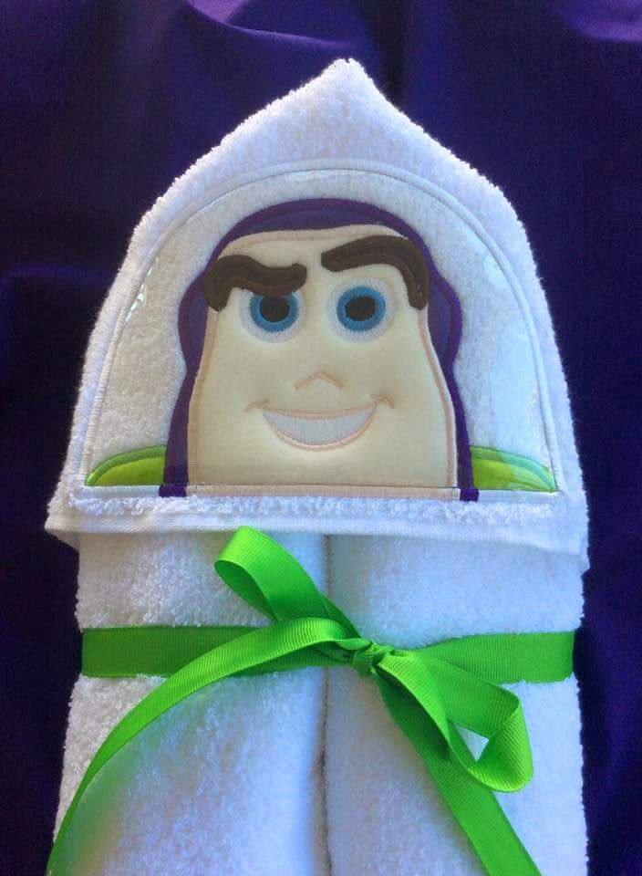 5x7 BUZZ SPACE RANGER FROM TOY STORY HEAD FOR HOODED TOWEL