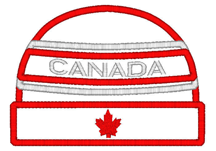 5x7 CANADIAN BEANIE APPLIQUE