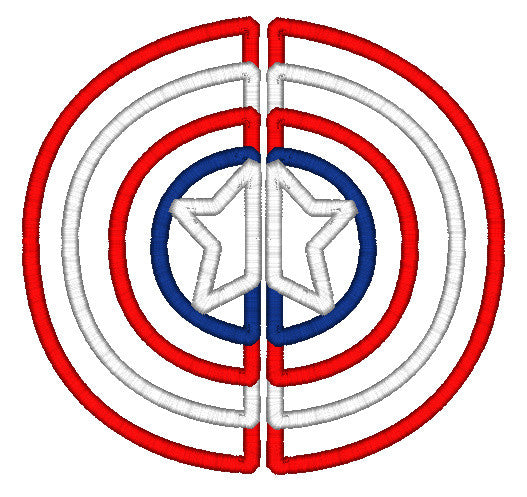5x7 SPLIT CAPTAIN AMERICA CHEST LOGO