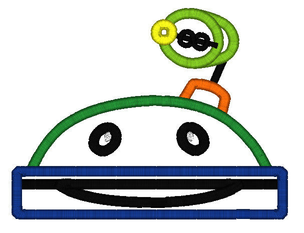5X7 UMIZOOMI BOT HEAD FOR HOODED TOWEL