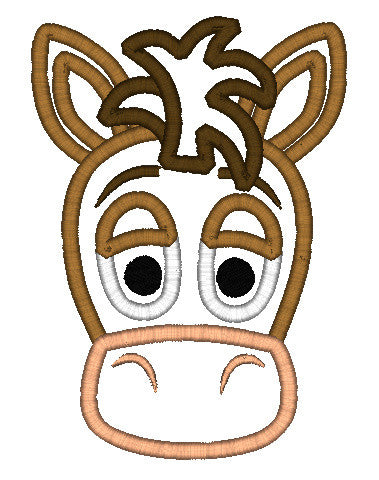 5X7 BULLSEYE HORSE HEAD FOR HOODED TOWEL