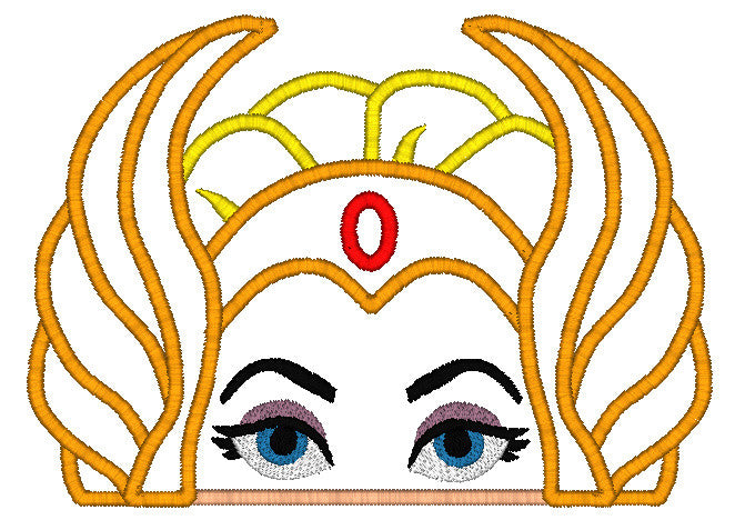 5x7 SHE-RA HEAD FOR HOODED TOWEL