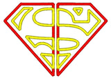 5x7 SPLIT SUPERMAN LOGO