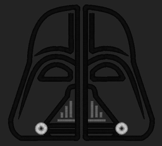 5x7 SPLIT DARTH VADER MASK