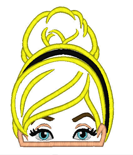 5x7 CINDERELLA HEAD FOR HOODED TOWEL