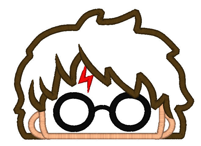5X7 HARRY POTTER HEAD FOR HOODED TOWEL
